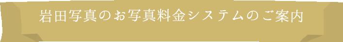 岩田写真のお写真料金システムのご案内